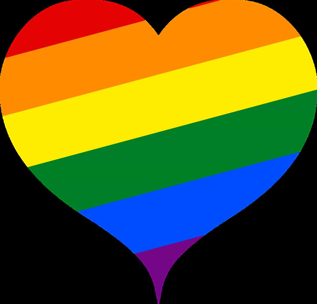 Ett hjärta i Prides färger. Ett ritat alltså. Inte är biologiskt hjärta. För det vore konstigt.