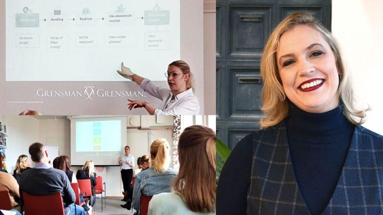 Hanna-Karin Grensman talar på frukostseminarium om E-handel och digital strategi
