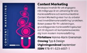 Content marketing Hanna-Karin Grensman Sanoma utbildning