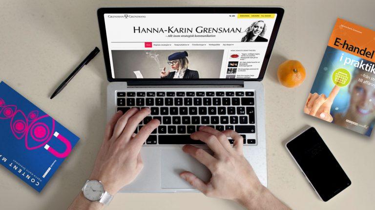 Content Marketing och E-handel i praktiken böcker för dig som företagare Hanna-Karin Grensman